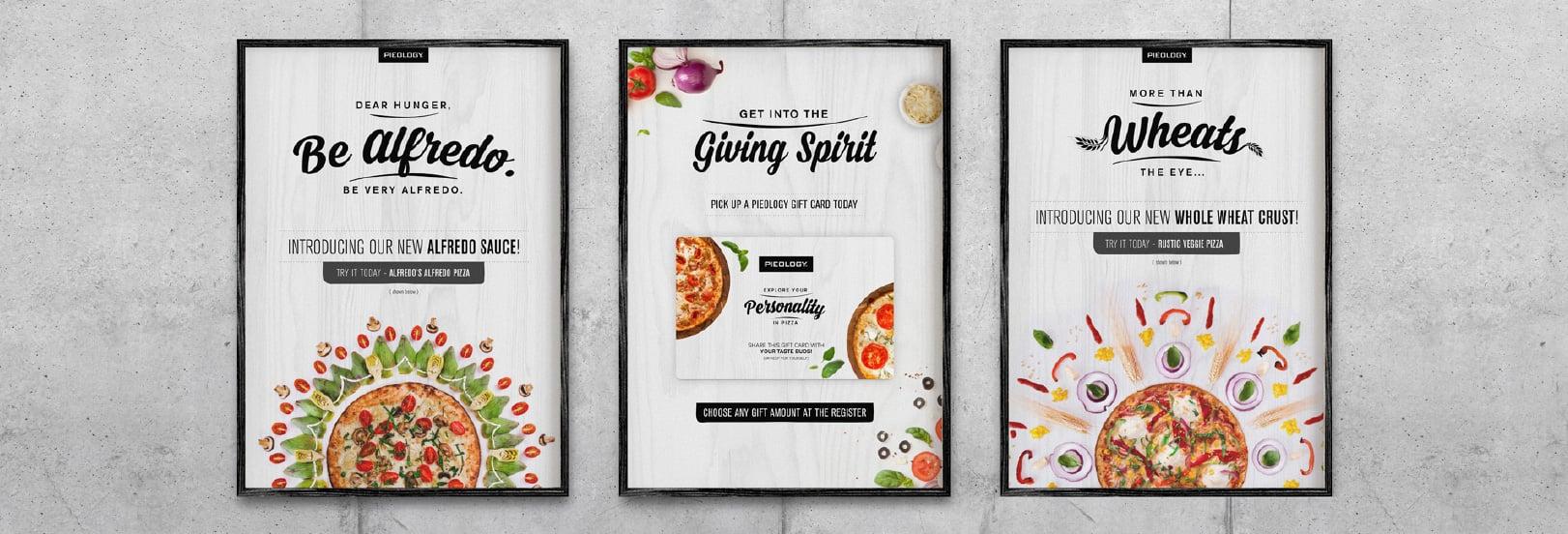 restaurant rebranding design sample