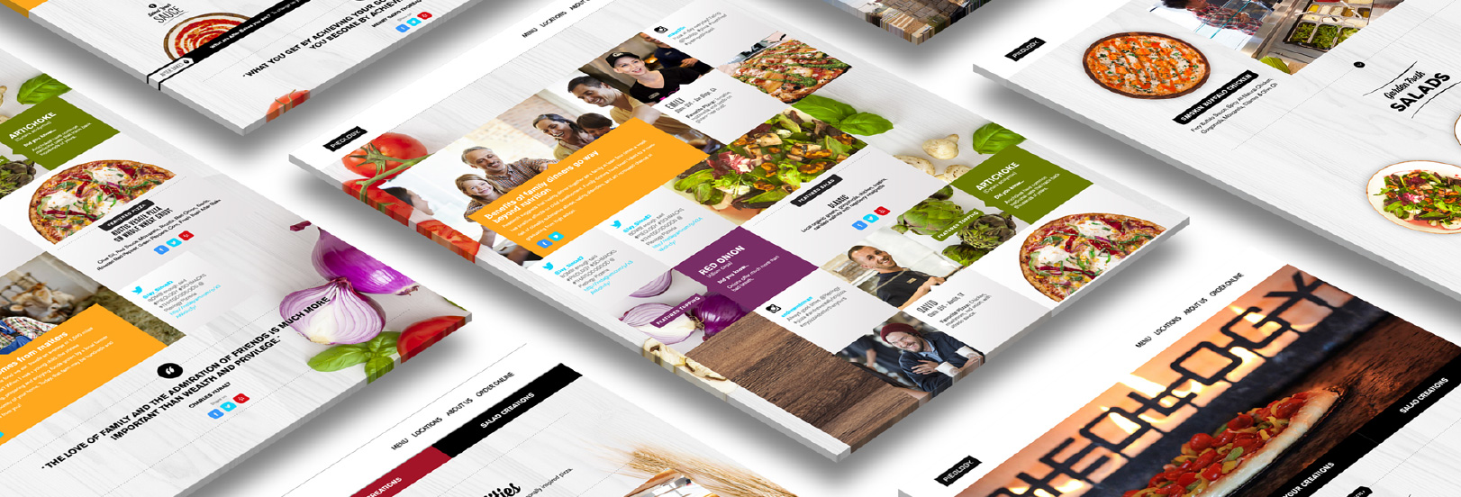 restaurant branding and website design