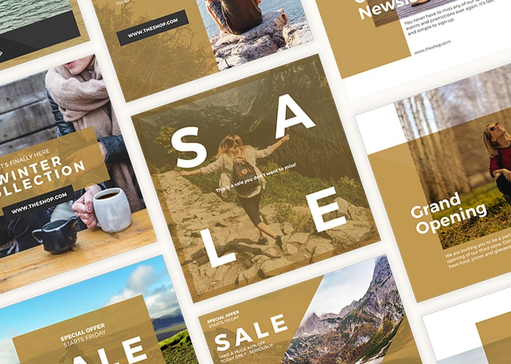 12 free instagram templates give your feed a facelift
